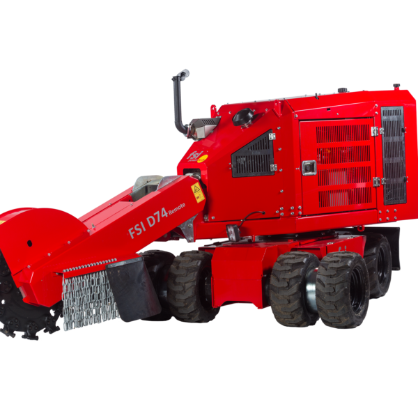 remote control stump grinder